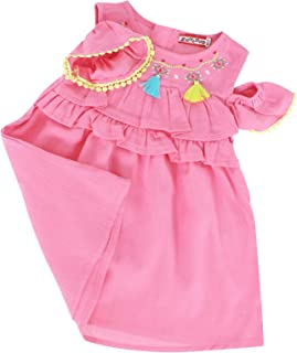 Zeyland Indian Themed Boho Linen Look Baby Girls Tassel Sundress