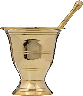 Simple and Solid Brass Mortar and Pestle