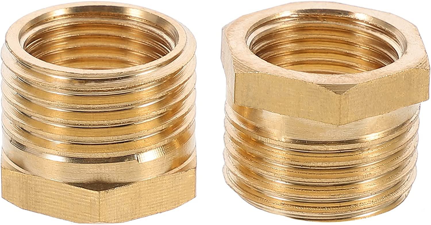 Durable free Tool Max 67% OFF 2pcs Hexagon Bushing Fitting Hose Pipe Brass