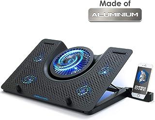 EMPIRE GAMING - Turboost Refroidisseur PC Ordinateur Portable Gamer en Aluminium - 5 Ventilateurs - Support ventilé 12 à 1...