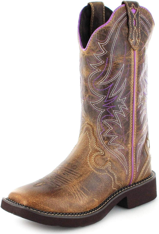 Justin Womens Raya Distressed Cowgirl Boot Square Toe