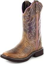 Justin Boots Damen Cowboy Stiefel L2918 Tan Westernreitstiefel Lederstiefel Braun