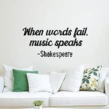 Vinyl Wall Art Decal - When Words Fail, Music Speaks - 14