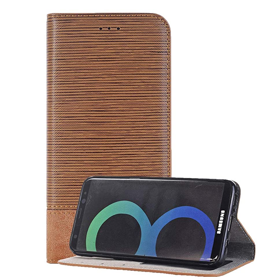 ファウル合理的手当Samsung Galaxy S8 手帳型 ケース ギャラクシーs8 スマホケース カバー 脱着簡単 カードポケット 高品質 人気 おしゃれ カバー(ライトブラウン)