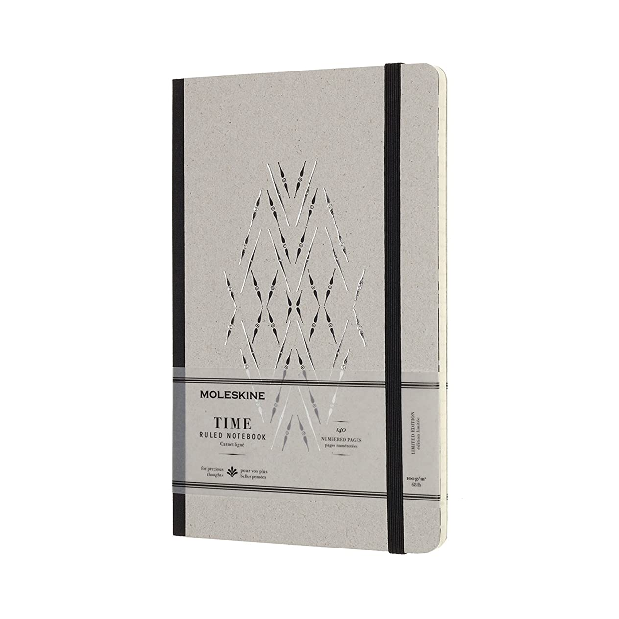 Moleskine Limited Collection Time Notebook, Large, Ruled, Black, Hard Cover (5 x 8.25)