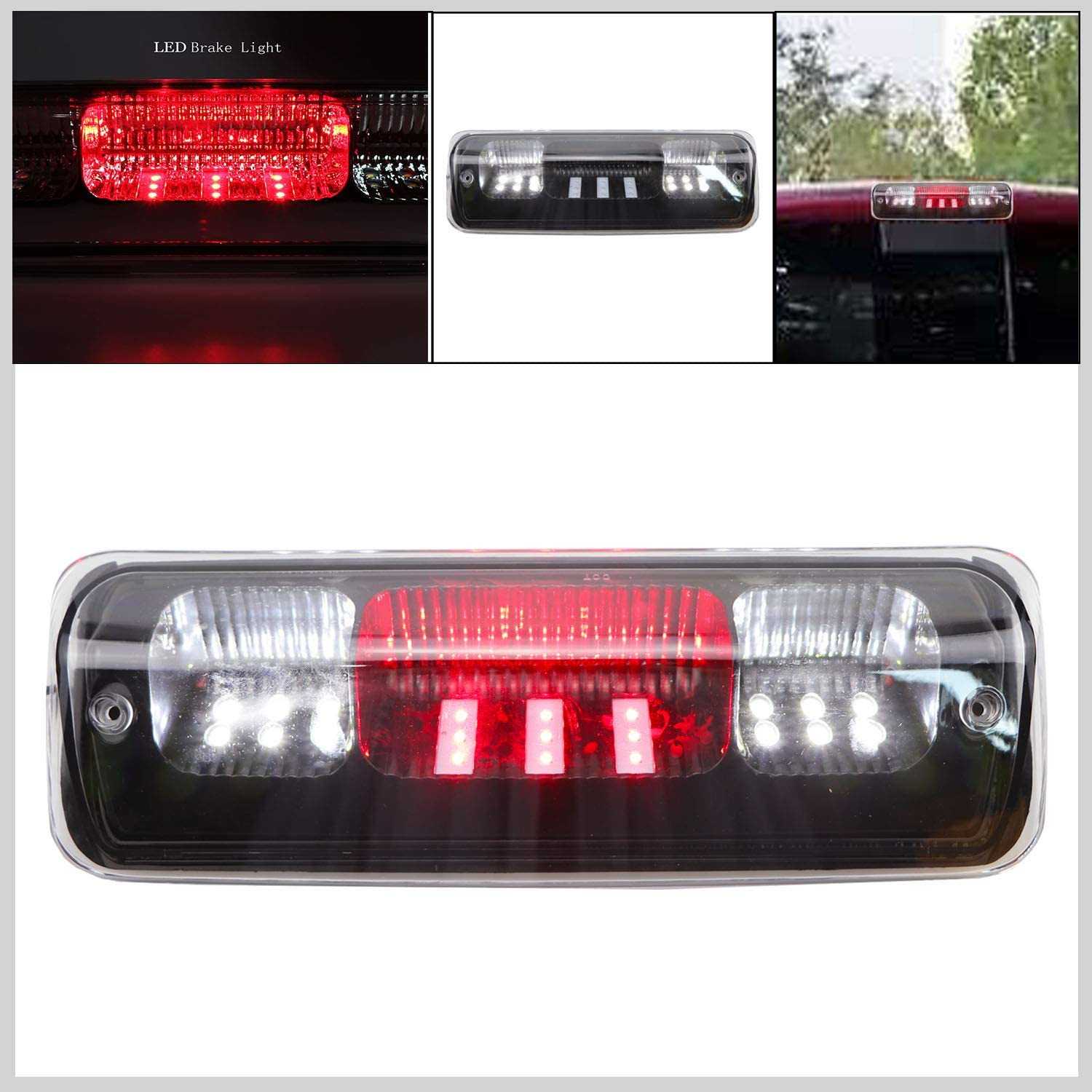 2006-2008 Lincoln Mark LT Black Housing Clear Lens 2007-2010 Ford Explorer Sport Trac Youxmoto 3rd Brake Lights Rear Cab Roof Center High Mount Cargo Tail Lamp for 2004-2008 Ford F-150