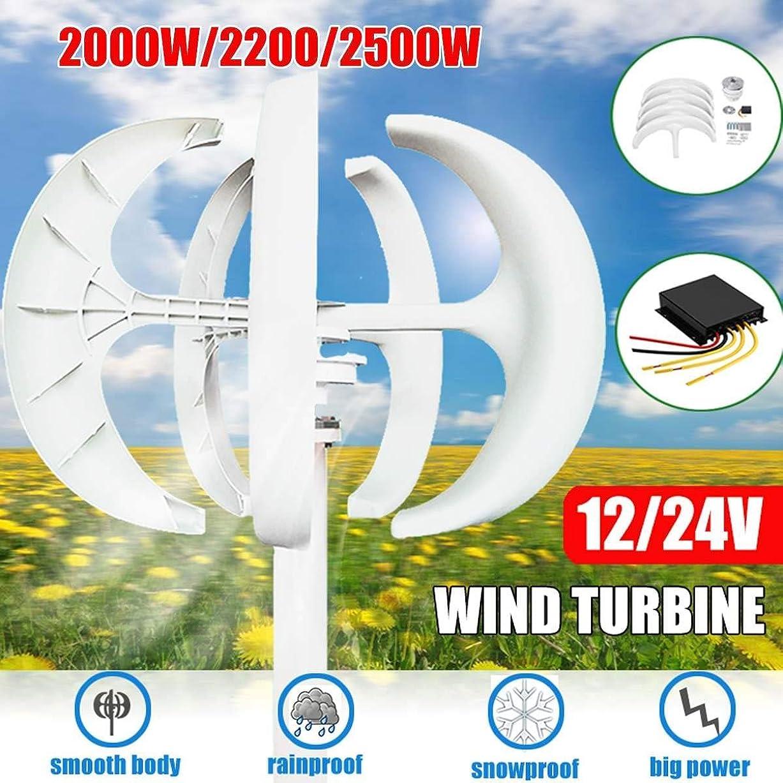 開発するオーストラリア公演風力発電機ランタン、2200W 12 / 24V風力発電機ランタン5ブレードモーターキットメイン街路灯用コントローラー付き垂直軸,24v