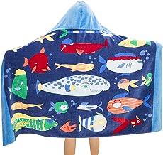 Bavilk Kid's Hooded Bath Towel Toddler Boy Girls Beach Towel Bottom Fish