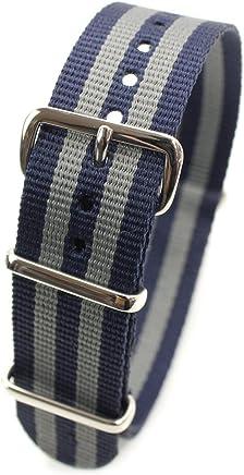 79c789d5d52 HDT Design N.A.T.O. Type Nylon Watch Strap  James Bond Navy   Gray 22mm