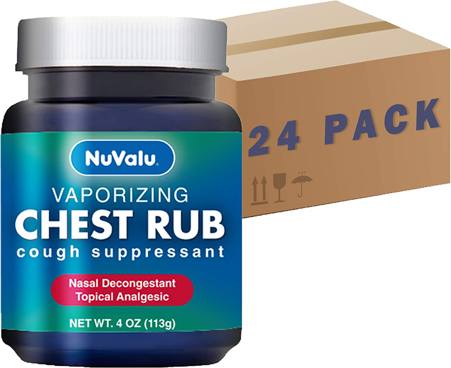 Max Large discharge sale 62% OFF NuValu Cough Suppressant Vaporizing Topical Rub Chest Analgesic
