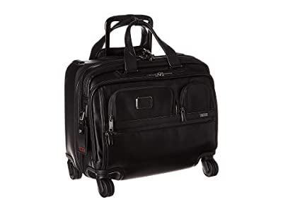 Tumi Alpha 3 Deluxe 4 Wheeled Laptop Case Brief (Black 1) Luggage