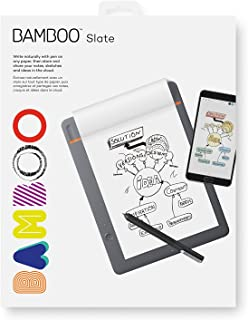 Wacom Bamboo Slate Smartpad دیجیتال نوت بوک، کوچک (A5 / نیمه نامه اندازه)، CDS610S