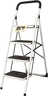 Escalera Cómoda Plegable de Acero (4 Peldaños)