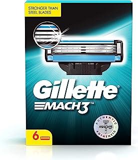 Gillette Mach 3 Shaving Blades - Pack of 6 (Cartridges)