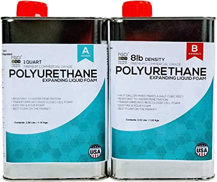 EXPANDING POLYURETHANE FOAM 1/2 GALLON KIT, 8 LB DENSITY, Fiberglass Coatings,