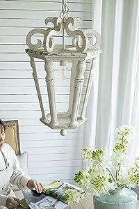 A&B Home Bonner Classic Chandelier, Antique White