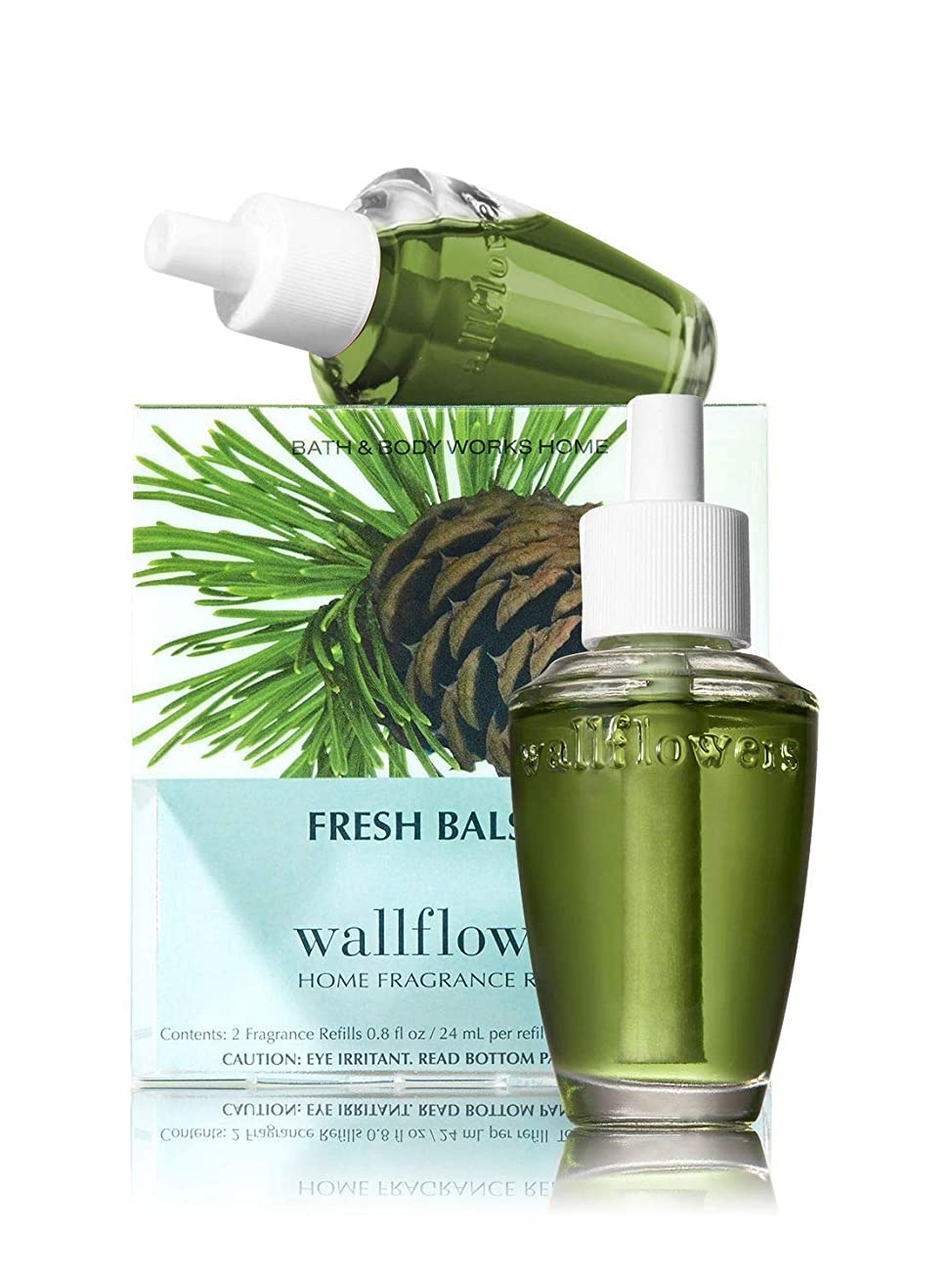 理論的複合無駄Bath & Body Works Wallflowers Home Fragrance Refill Bulbs Fresh Balsam 2 Pack