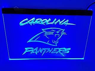 blue carolina panthers Bar Pub Led Light Sign