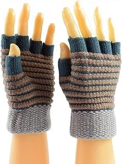 Womens Knit Fingerless Work Gloves Cold Weather Gloves Warm Half-Finger Gloves
