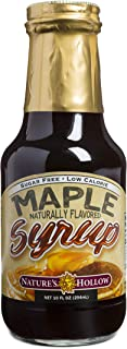 Nature's Hollow, Sugar-Free Maple Flavored Syrup, Non GMO, Vegan and Gluten Free - 10 Ounce