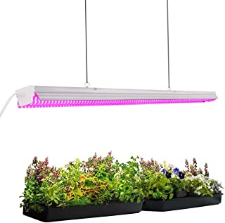 Byingo 4ft 64W Plant Grow Light - LED Integrated Lamp Fixture Plug and Play - Full Spectrum for Indoor Plants Flowers Growing