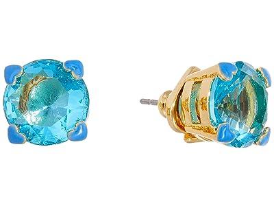Kate Spade New York Heart Stud Earrings (Light Sapphire) Earring