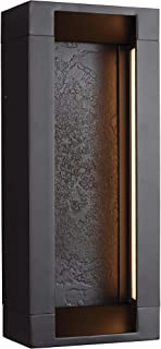 Feiss OL11601ORB-LED Mattix LED Outdoor Patio Lighting Wall Lantern, Bronze, 2-Light (6