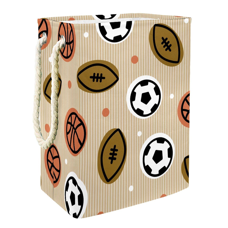 Storage Basket Football Alternative dealer Rugby Basketball Organ OFFicial mail order Pattern Bin Chest