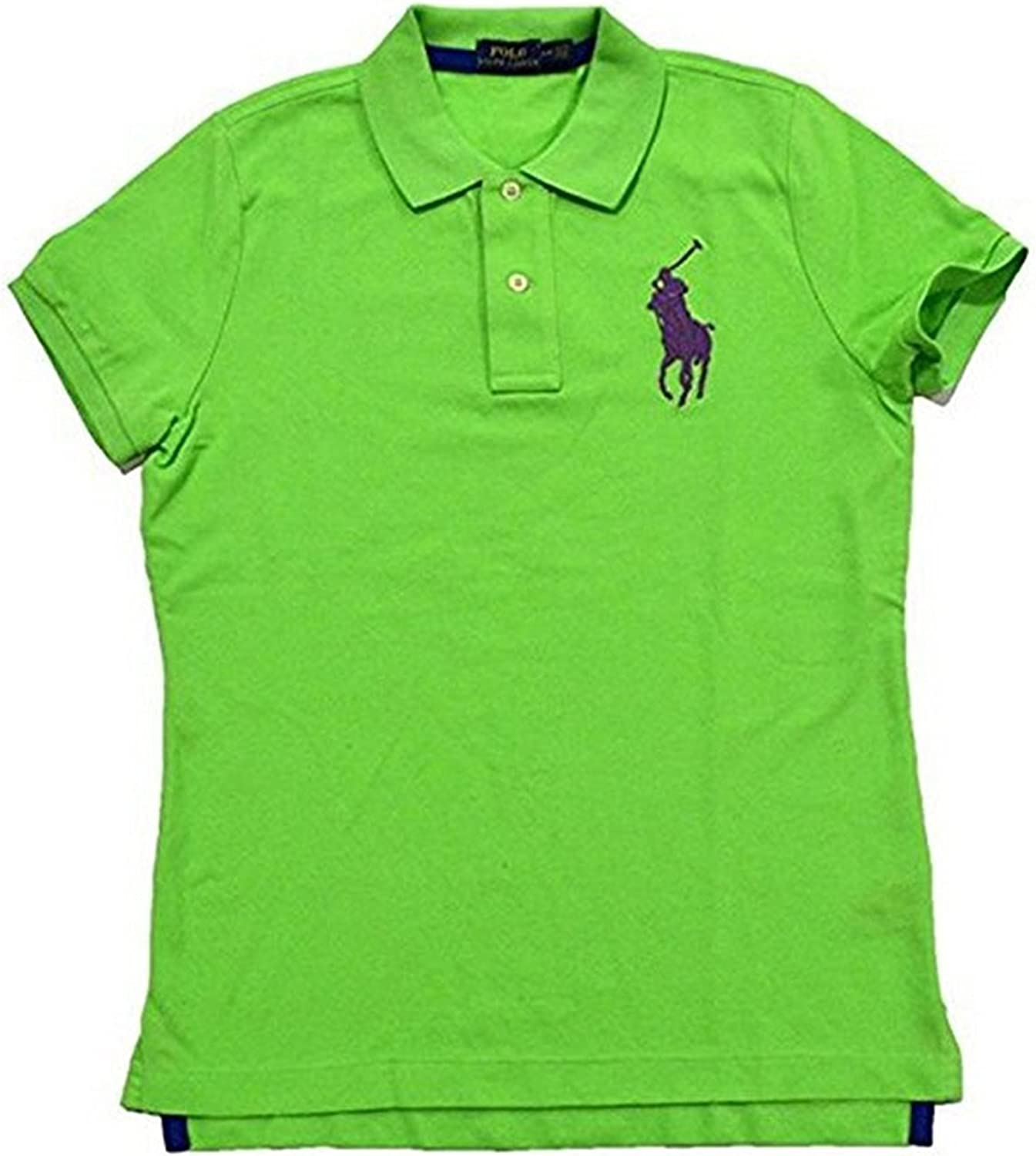 Ralph Lauren Clearance SALE! Limited time! Popular product Women's Big Pony Polo Shirt Mesh Tri-Color