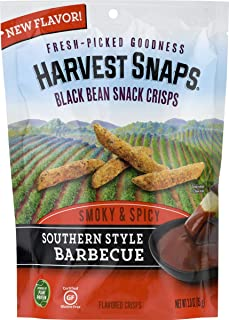 Harvest Snaps Black Bean Snack Crisps, Southern Style Barbecue, Gluten-Free, Baked & Crunchy, Vegetarian Snack With Plant Protein & Fiber, 3 count