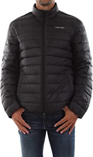 Calvin Klein Men's Down Quilted Bomber Jacket Black