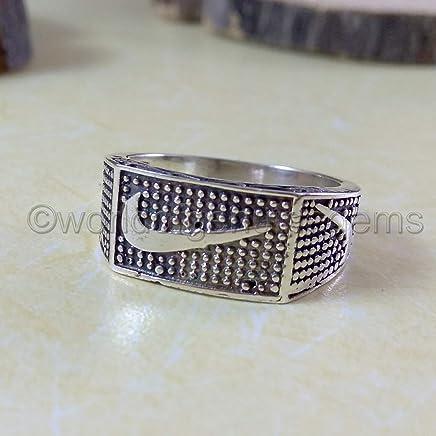Handmade 925 Sterling Silver Men's Woman's Ring Nike Sport