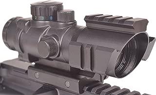 OZARK ARMAMENT 4X Magnified Optic with Illuminated BDC Reticle - Rifle Scope