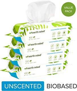 Earth Rated Dog Wipes USDA-Certified 99 Percent Biobased,...