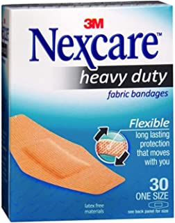 Nexcare Heavy Duty Flexible Fabric Bandages One Size 30 Each (Pack of 3)