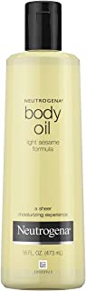 Neutrogena Body Oil, Light Sesame Formula Body Oil 16 Fluid Ounce