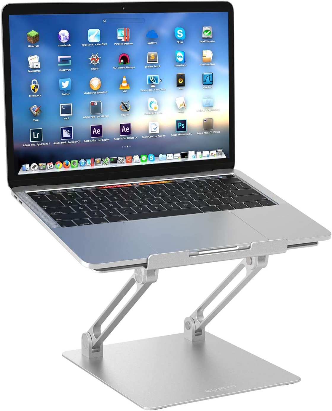 Laptop Stand for Desk, Clubyo Ergonomic Adjustable Aluminum Computer Stand, Laptop Riser Compatible with MacBook Pro 10-17 Inches Laptops