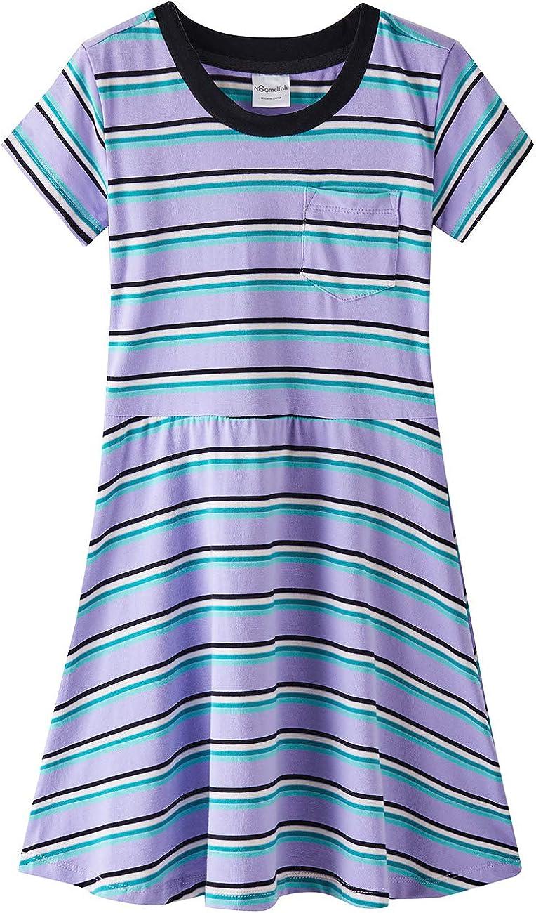 Noomelfish Charlotte Mall Girls High quality Summer Knit Short-Sleeve Dresses Flare Ye 2-12