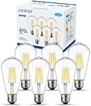 ANWIO 4W Edison LED gloeilamp E27 ST64, komt overeen met decoratieve gloeilampen 40W, 470lm warm wit 2700K, vintage retro ...