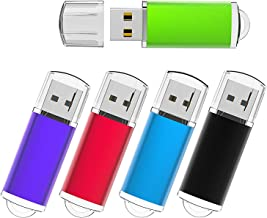 KEXIN 5 Pack 32GB Flash Drive 32 GB USB Thumb Drives Jump Drive Multiple Color USB Memory Storage Flash Stick Pen Drive USB 2.0, Black/Blue/Green/Purple/Red (32GB)