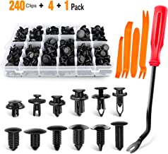 GOOACC 240PCS Bumper Retainer Clips Car Plastic Rivets Fasteners Push Retainer Kit Most Popular Sizes Auto Push Pin Rivets...