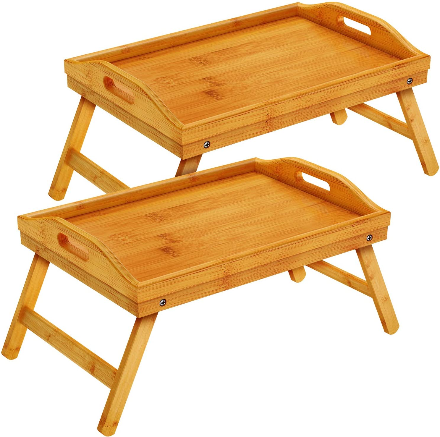 Pipishell Bamboo 贈答 Bed Tray Table 特価 Breakfast with Legs Tr Foldable