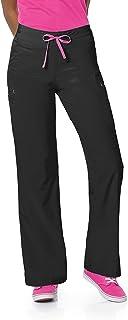 Smitten Contemporary Slim-Fit 2-Pocket Elastic-Waist Scrub Pants for Women S201003