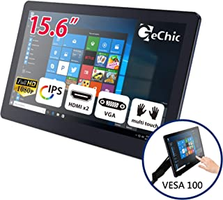 GeChic 1503I 15.6 inch 1080p Portable Touchscreen Monitor with HDMI, VGA Input, USB Powered, Ultralight Weight, Built-in Speakers, Rear Docking