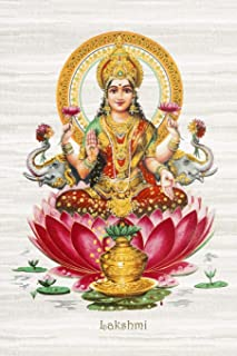Lakshmi: 200-page Blank Writing Journal with the Hindu Goddess of Wealth, Fortune and Prosperity on the Cover (6 x 9 Inches): Volume 7 (Symbology Series of Writing Journals)