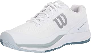 Wilson RUSH PRO 3.0 Tennis Shoes,  White/Pearl Blue/Bluestone, 7