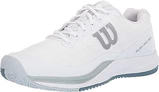 Wilson RUSH PRO 3.0 Tennis Shoes,  White/Pearl Blue/Bluestone, 14