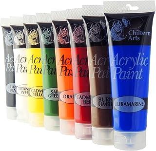 Chiltern Lot de 8 tubes de peintures acrylique de 120 ml