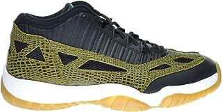 Jordan Air 11 Retro Low IE Croc Men's Shoes Black/Military Green/Gum Yellow/Infrared 23 306008-013
