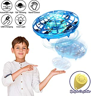 98K Hand Operated Drones for Kids or Adults, Light Up Joy Flying Ball Drone, Helicopter Mini Drone, Easy Indoor Small Flying Toys for Boys or Girls